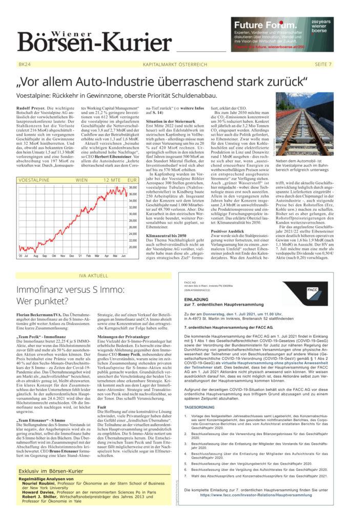 Börsen-Kurier Kolumne Florian Beckermann